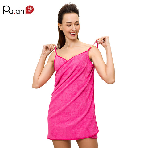 Sexy V Neck Women Beach Towel Soft Microfiber Fabric Pink Wearable Bath Towels Super Absorbent Girl Bathrobe 150x70cm Hot