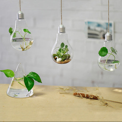 Hanging lamp glass vase hydroponic vases fashion home decoration ornaments plants flower home decocr
