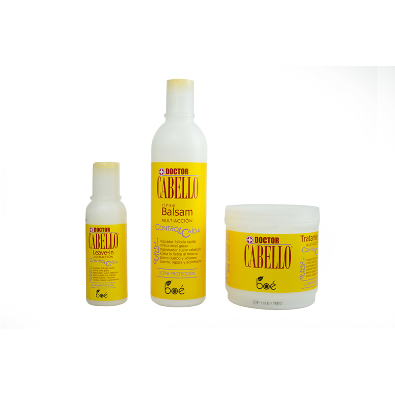 BOE Combo Kit - Doctor Cabello Hair Loss Leave-In 4 oz., Rinse 12oz., Treatment 16 oz.