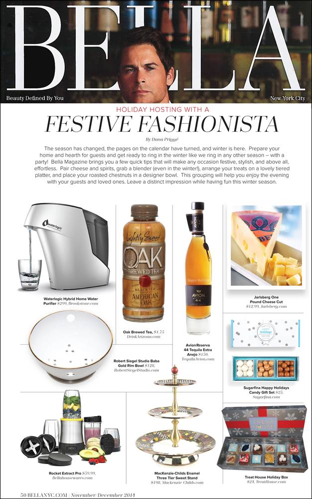 Bella NYC Magazine – Robert Siegel Studio's Gold Rim Berry Bowl is for the 'Festive Fashionista'