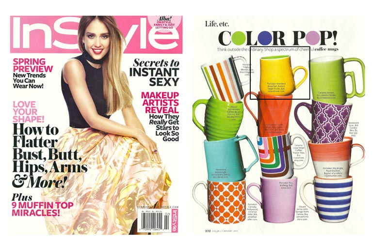 InStyle Magazine – 'Color Pop!' – with Robert Siegel Studio Mug