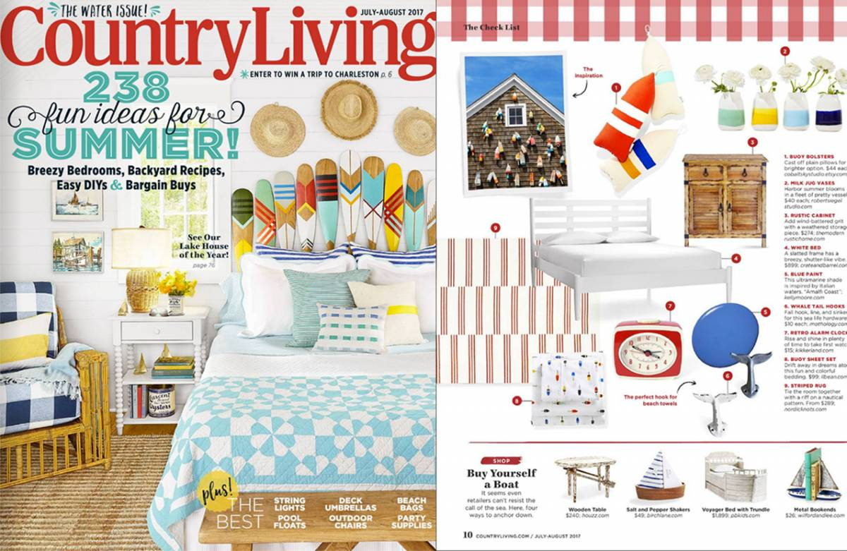 Country Living features Milk Jug Vases from Robert Siegel Studio