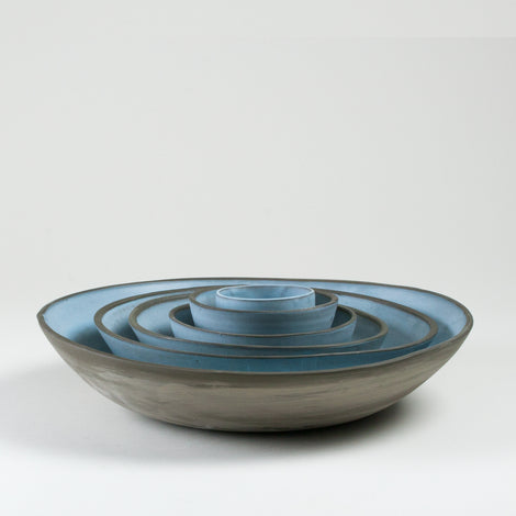 Elements Aqua Blue Bowls Side Shot