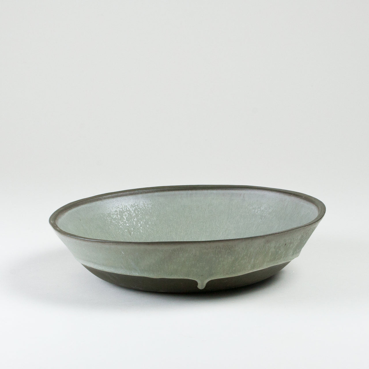 "Elements French Green 11"" LG Bowl Side Shot"