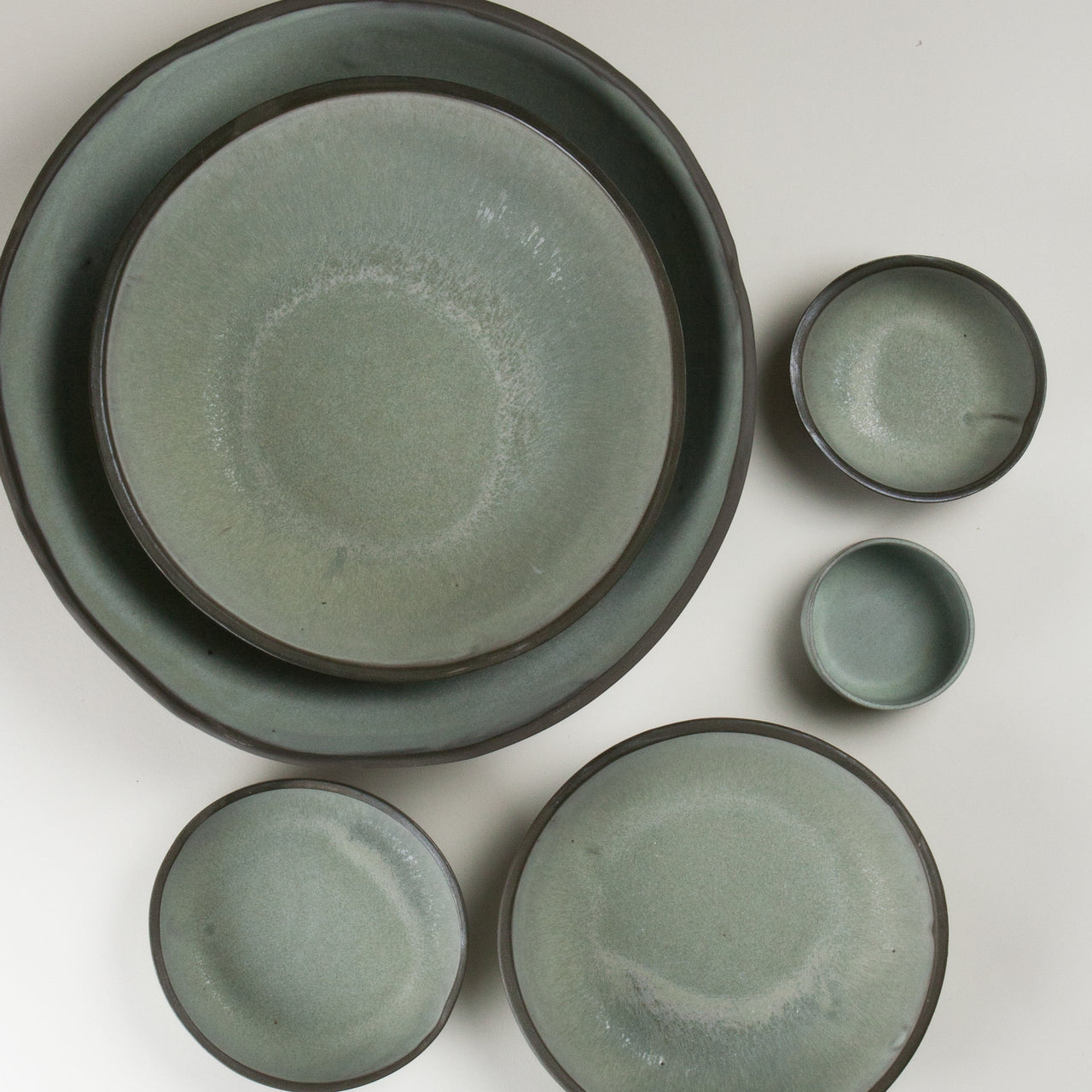 Elements French Green Bowls 3