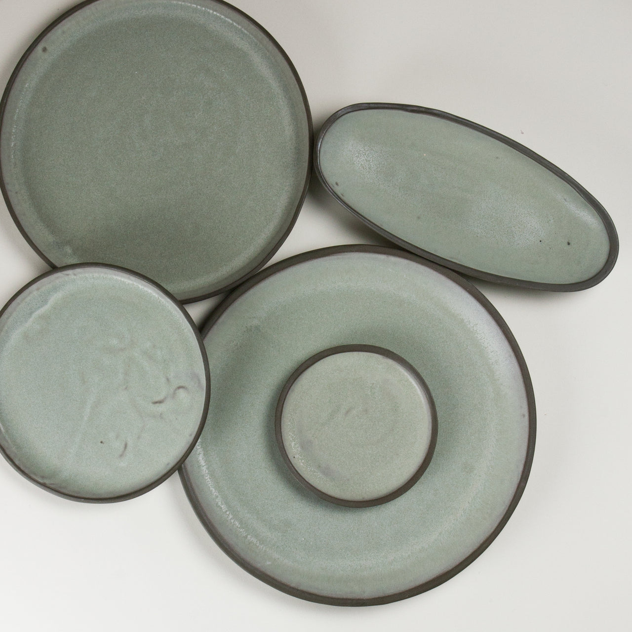 Elements French Green Plates 2