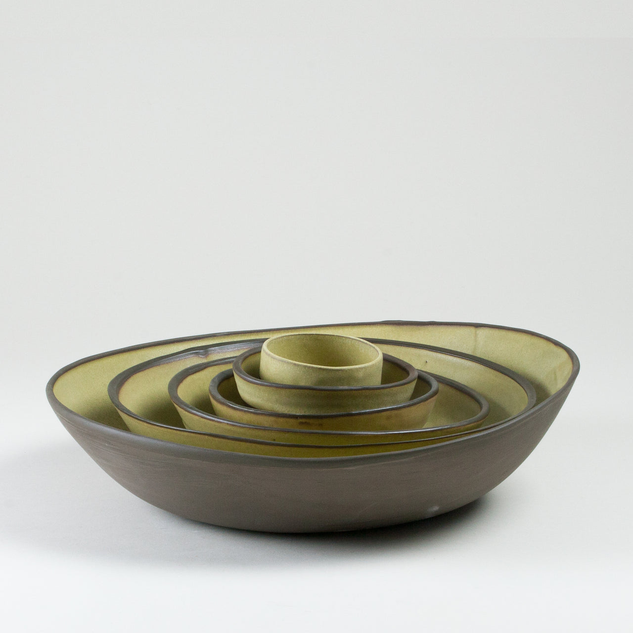 Elements Yellow Ore Bowls Side Shot