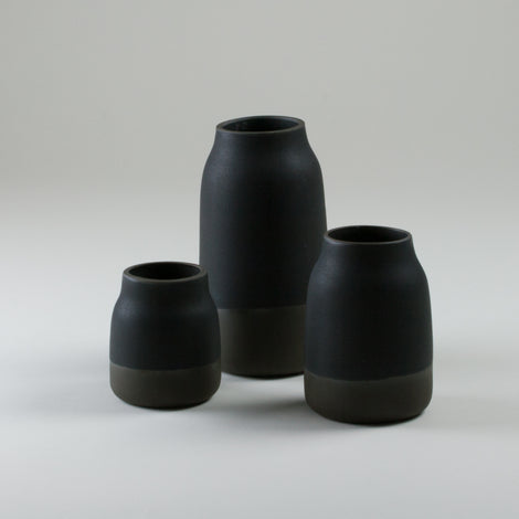 Origins Black on Black Milk Jugs
