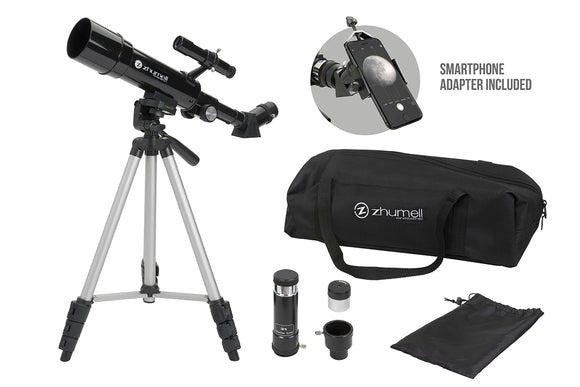 Zhumell Portable 50mm AZ Refractor Telescope with Smartphone Adapter