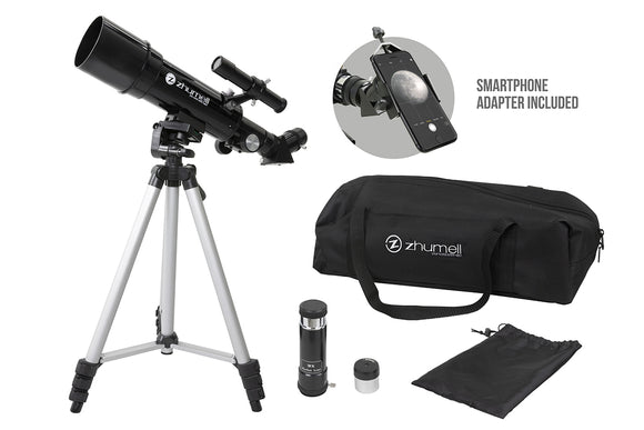 Zhumell Portable 60mm AZ Refractor Telescope with Smartphone Adapter