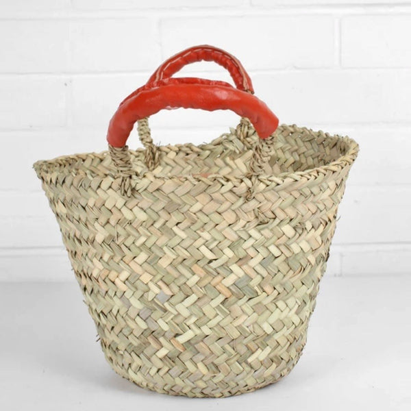 Beldi Basket with Leather Handles