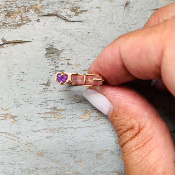 Tourmaline and Amethyst Ring