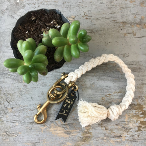 Giles & Brother Rope/Brass Key Fob