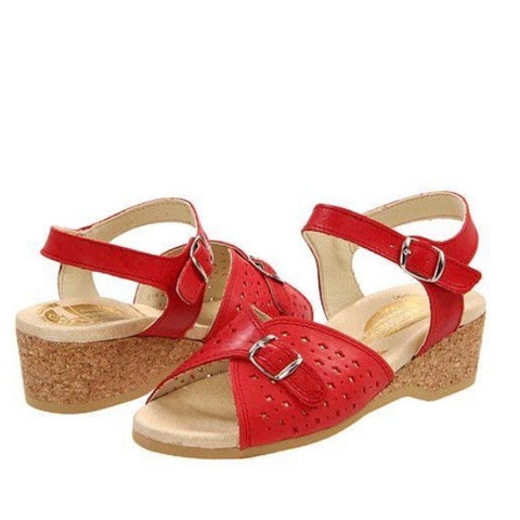 Worishofer 811 Tomato Red Sandals