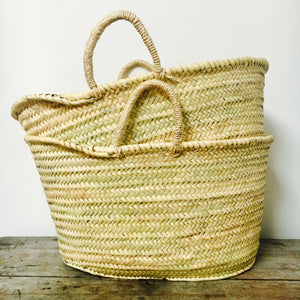 Market Basket with Sisal Handles