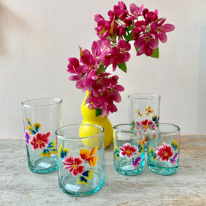 Hand Painted Glassware from Mexico
