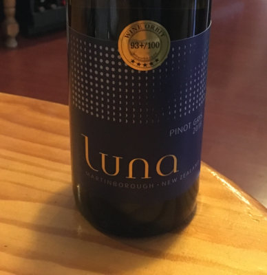On Tasting - Luna Estate: Martinborough Pinot Gris