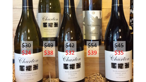 Churton Wines pricing this week