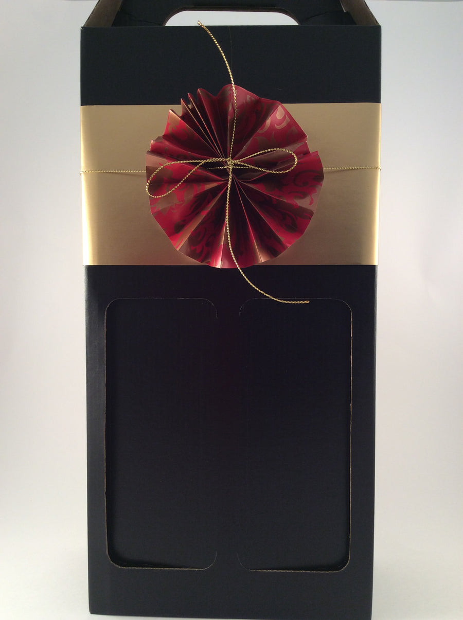 Giftbox - Black Cardboard - Double - Wineseeker