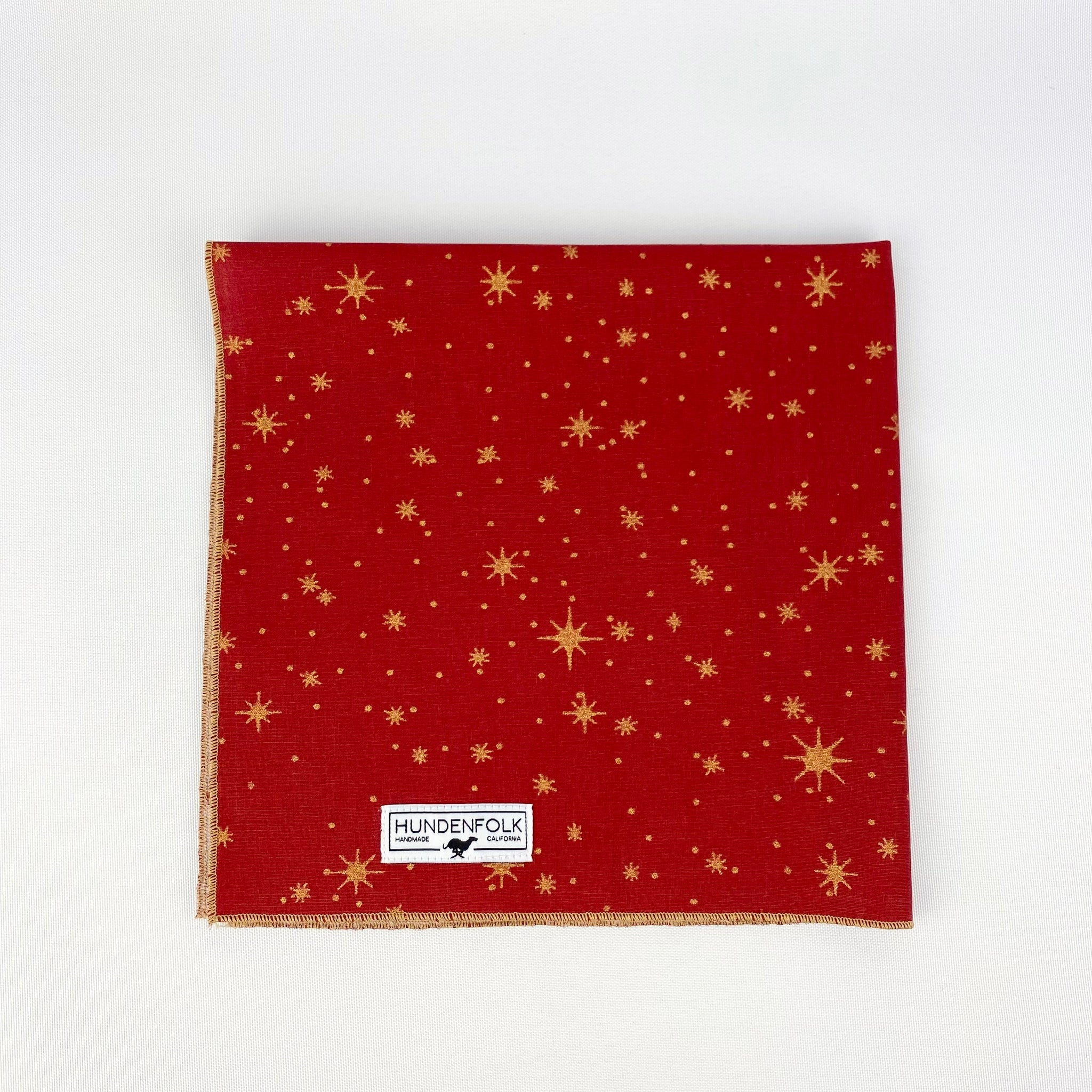 North Star- Ruby Red Dog Bandana