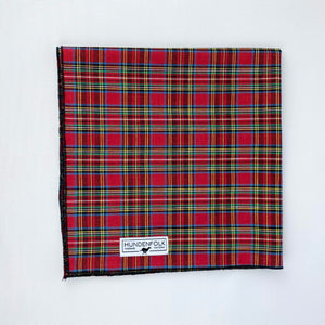 Holiday Tartan Woven Dog Bandana