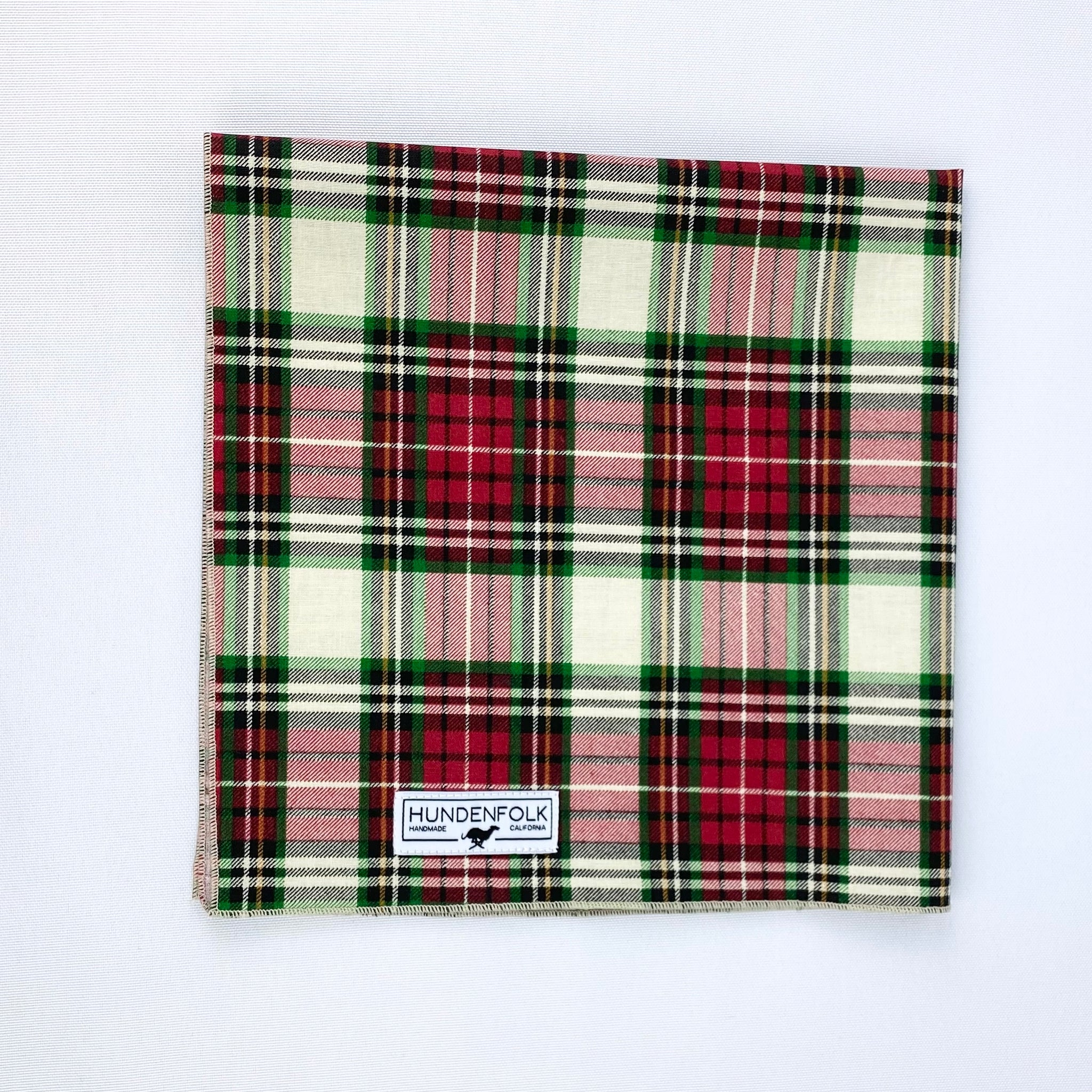 Holiday Plaid Dog Bandana