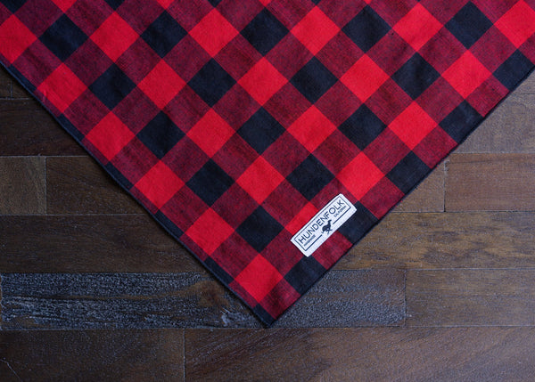 Dog Bandana/ Red Plaid Dog Bandana/ Dog Bandana Collar/ Dog Clothes/ Dog Scarf/ Puppy Bandanas/ Holiday Accessories/ Christmas