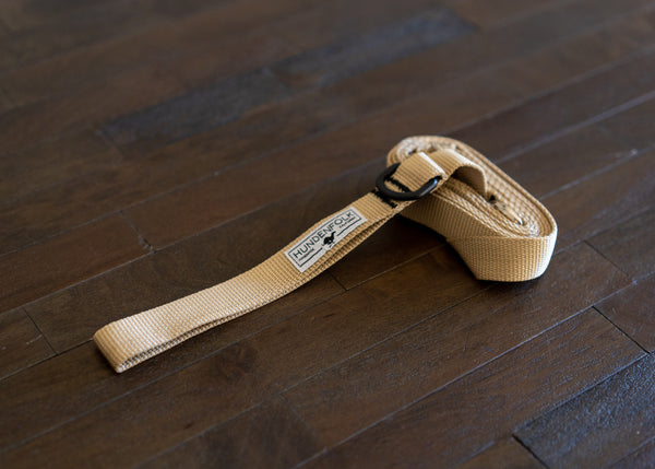 Dog Leash- Khaki with Traffic Lead