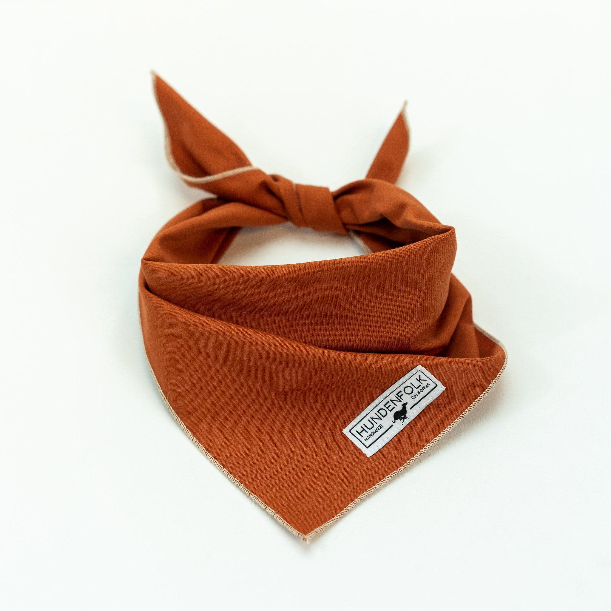 Burnt Orange Dog Bandana