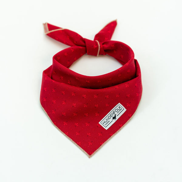 Red Retro Print Dog Bandana