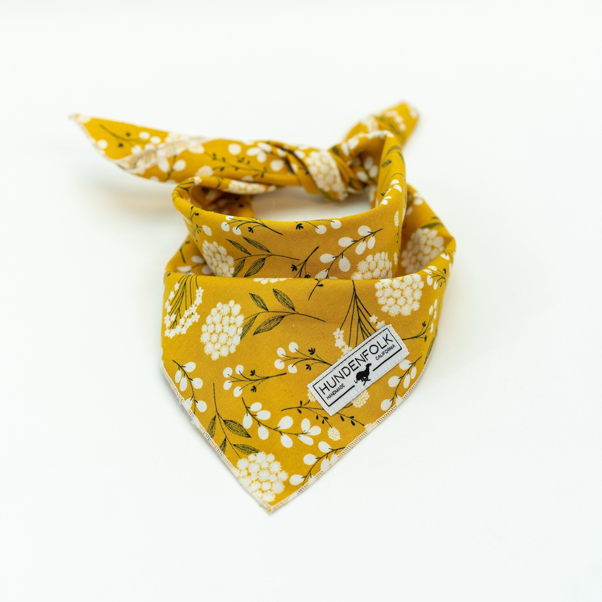 Yellow Floral Dog Bandana