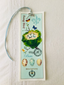 Bird Nest Velvet Book Mark