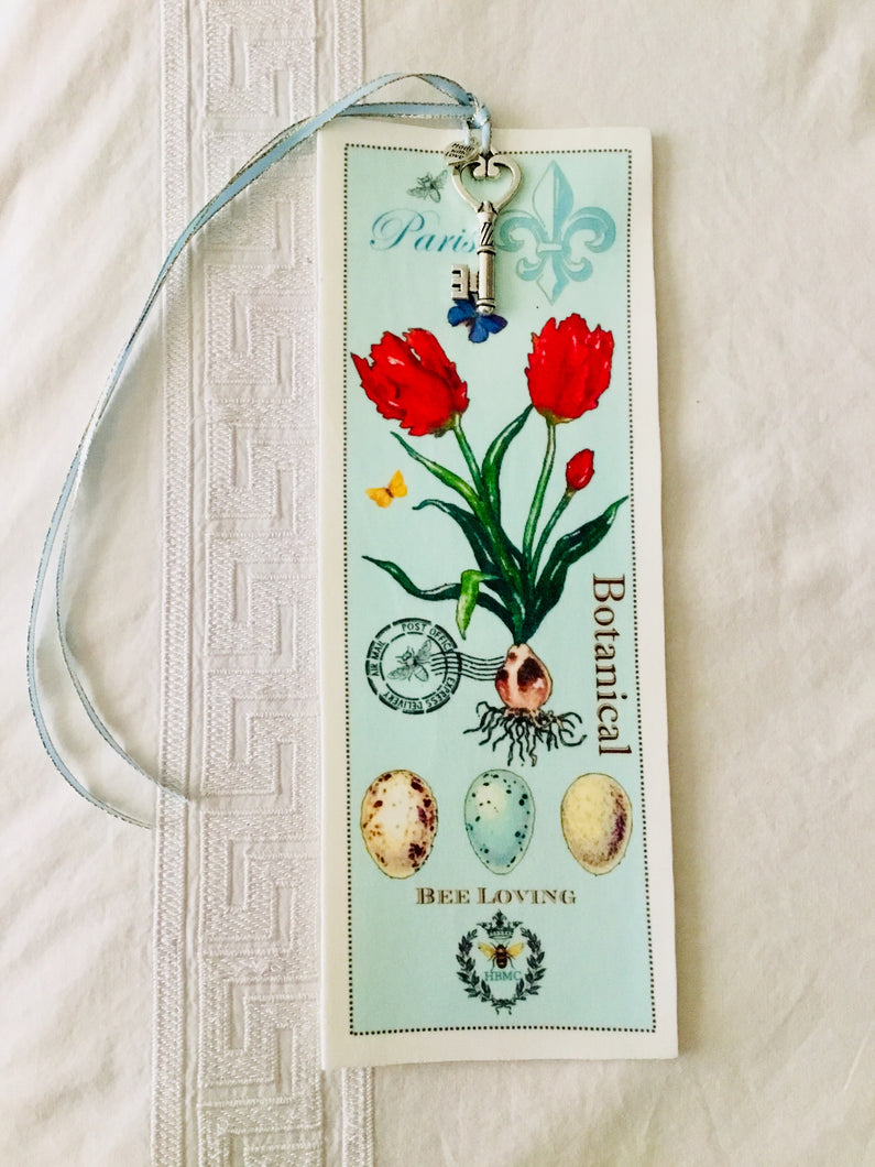 Red Tulip Velvet Book Mark