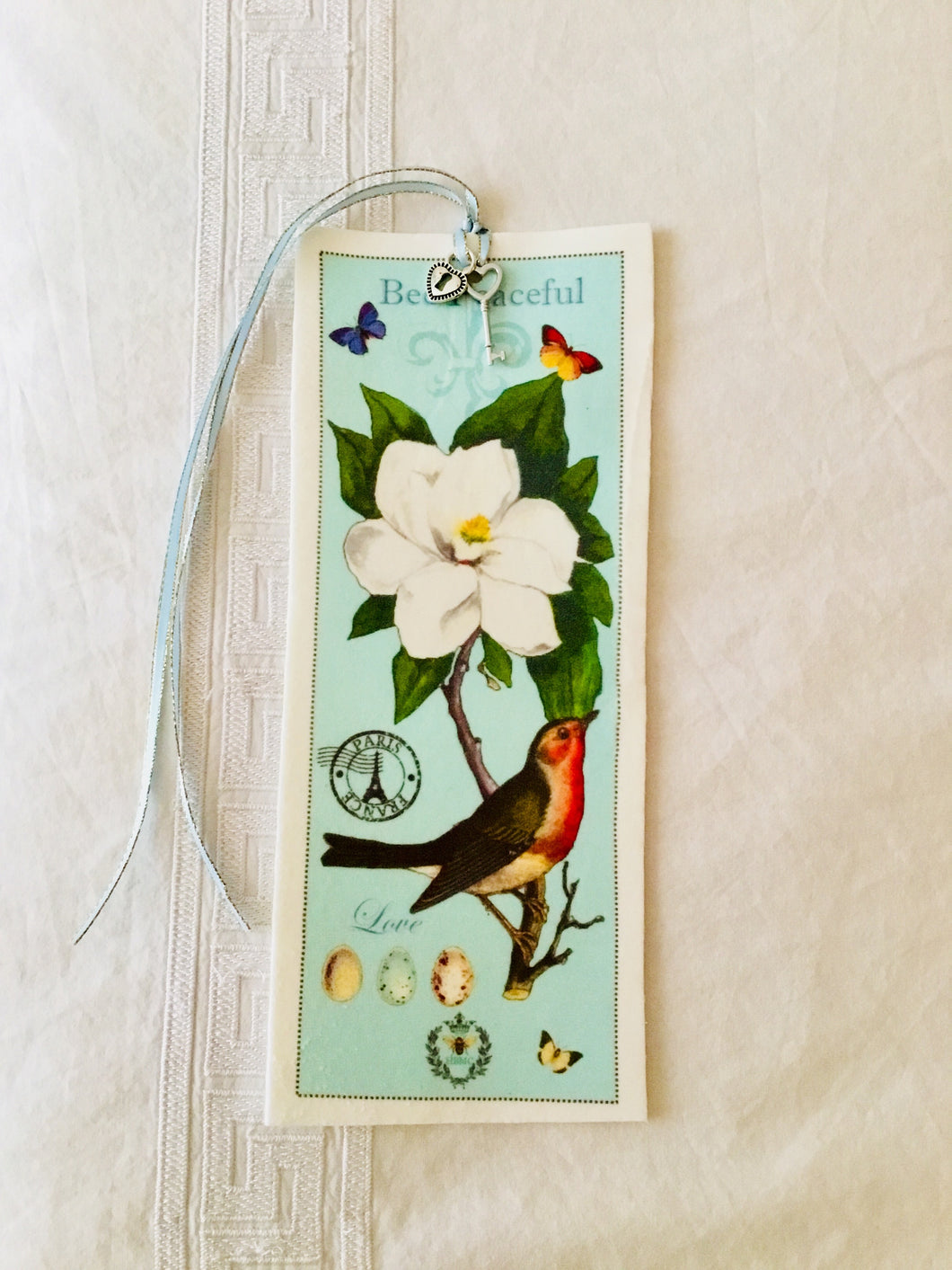 Magnolia & Bird Velvet Book Mark