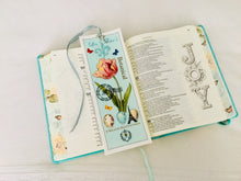 Pink Tulip Velvet Book Mark