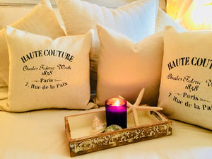 Haute Couture Paris Pillow