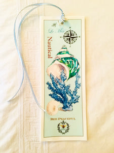 Green Shell Velvet Book Mark