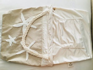 Nautical Linen Travel Tote Le Sac