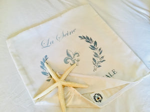 La Seine Stenciled Pillow Case