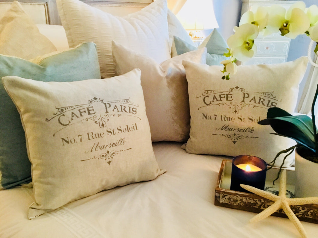 Cafe Paris Pillow