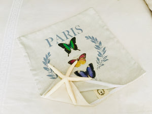 Paris Mixed Butterfly Pillow