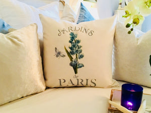 Blue Hyacinth Botanical Pillow