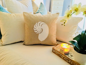 Nautilus Shell Pillow Case