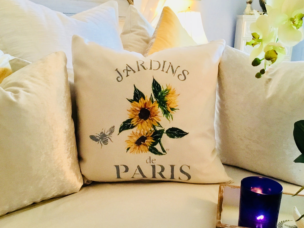 Sunflower Botanical Pillow