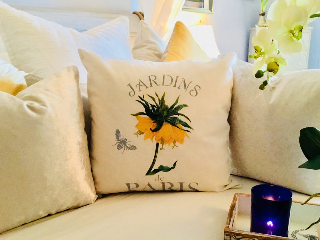 Yellow Crown Imperial Botanical Pillow Case