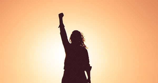 Woman power silhouette