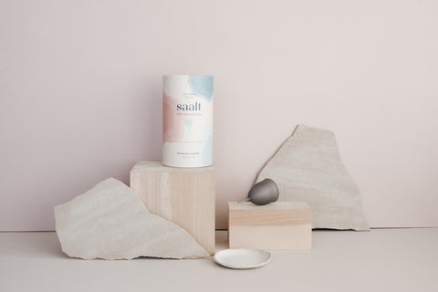 Saalt Soft cup and packaging