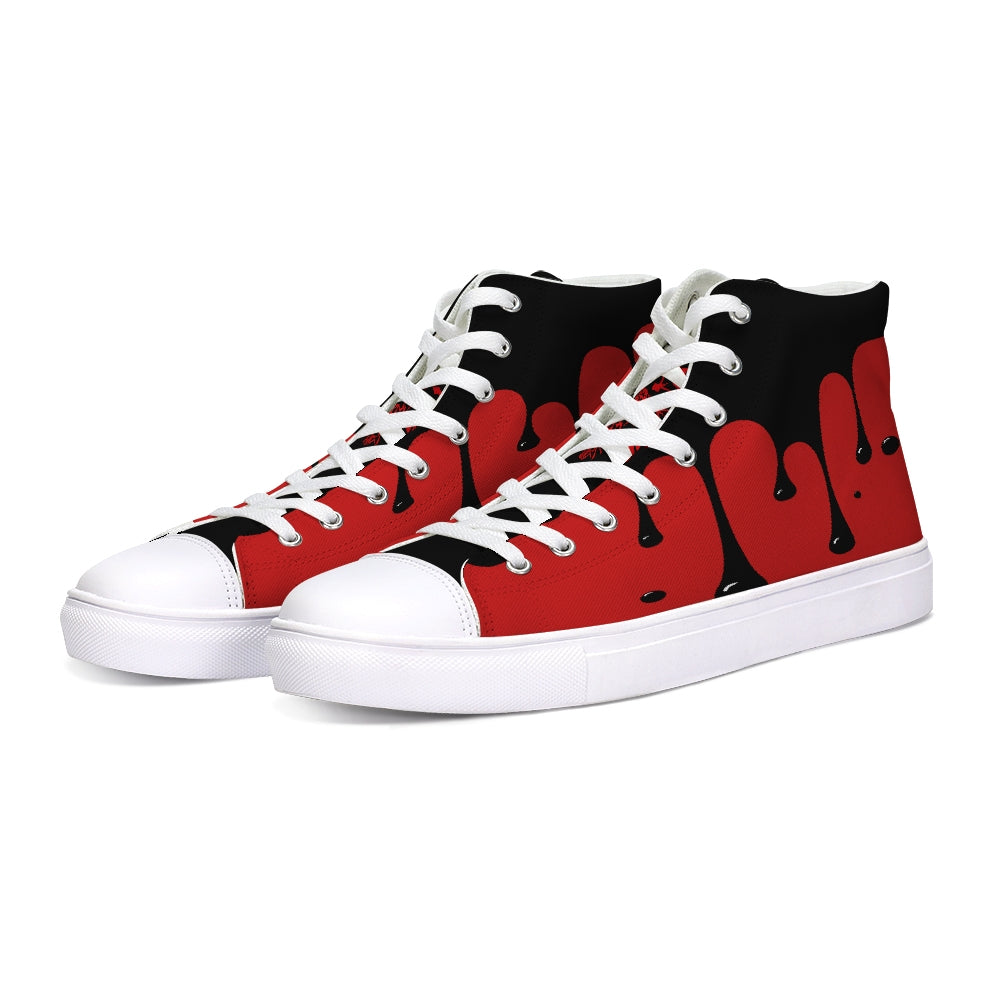 Tainted Heart Hightop Canvas Shoe