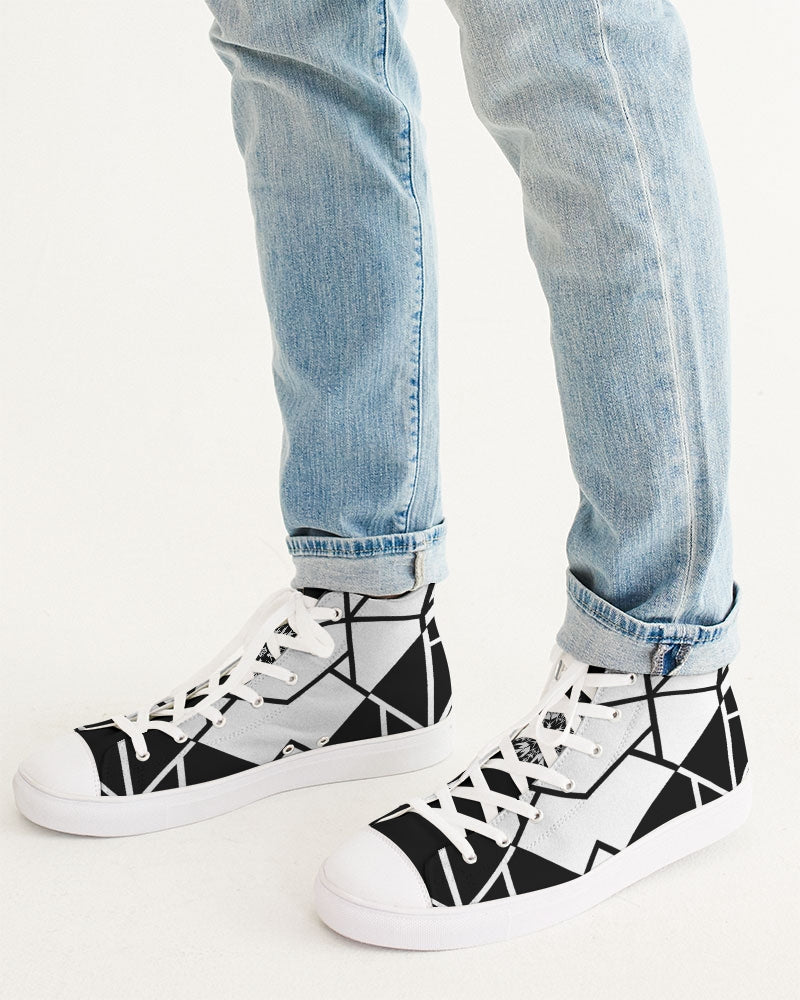 Black/White Hightop Canvas Shoe