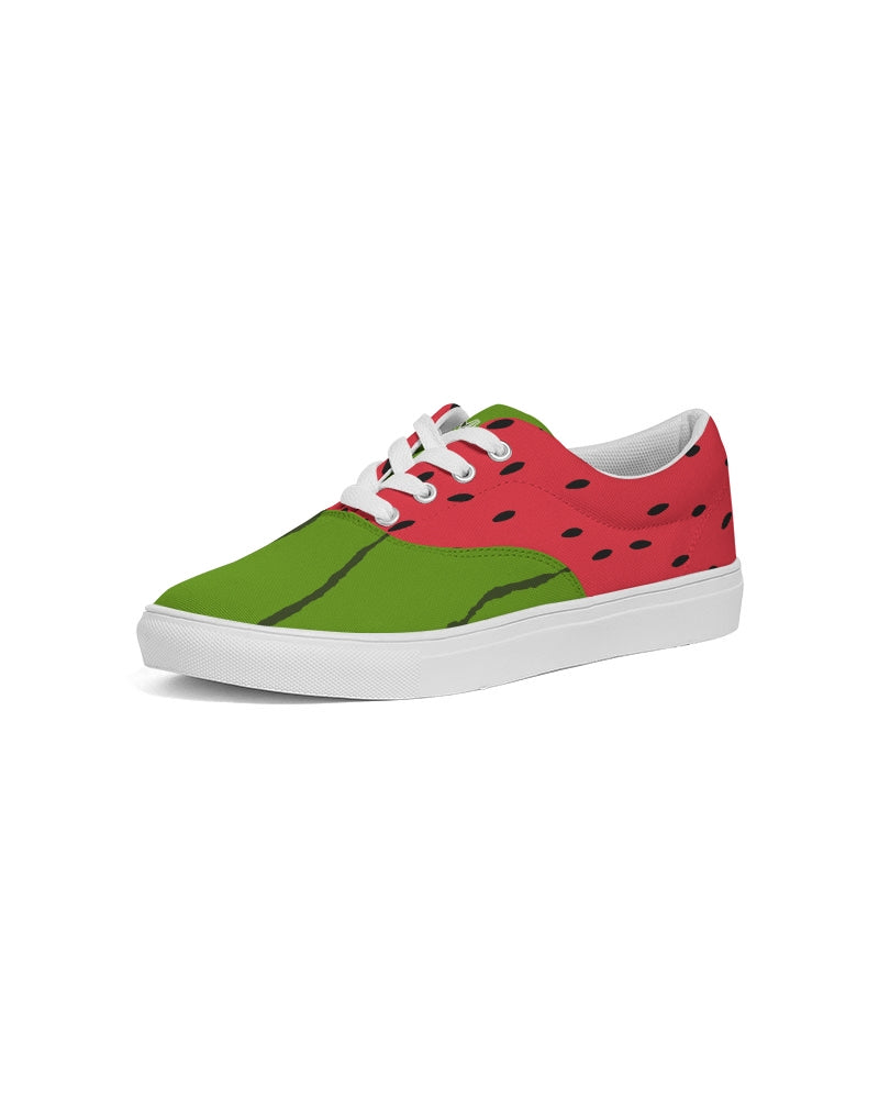 Water/Melon Lace Up Canvas Shoe